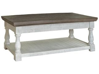Havalance Casual Gray White lift Top Cocktail Table   48 W x 28 D x 19 H   48 W x 28 D x 19 H  Retail 368 49
