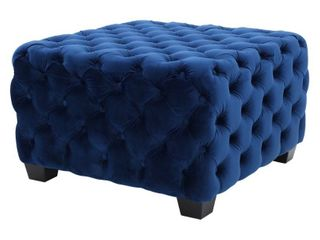 Jaymee Button Tufted Velvet Ottoman by Christopher Knight Home  Retail 186 49