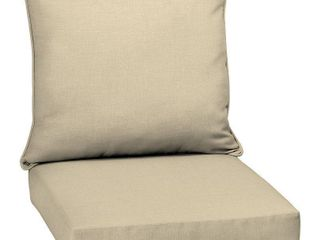 Set of 2 Arden Selections Tan Outdoor Deep Seat Cushion Set   46 5 in l x 25 in W x 6 5 in H