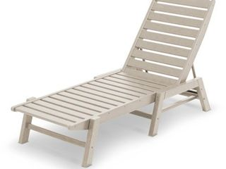 POlYWOOD Nautical Outdoor Stackable Chaise lounge  Retail 299 00
