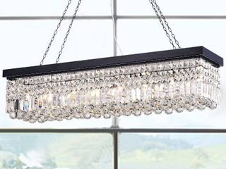 Cassiopeia Rectangular Chandelier Kitchen Island Crystal Dining Industrial lighting 8 light  Retail 215 49
