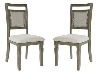 OSP Designs Palma Dining Chair 2 CTN in Antique Grey Finish