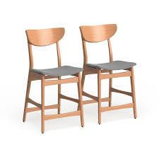Carson Carrington lund Wood 24 inch Counter Stool  Set of 2    Retail 155 00