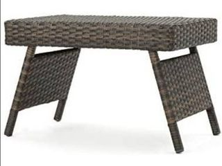 Third Outdoor Aluminum Frame Wicker Accent Table