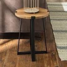 Carbon loft Kenyon Round Metal Wrap Side Table  Retail 88 21