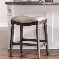 Copper Grove Barmstedt Grey Counter Stool with Saddle Seat   Retail 101 99