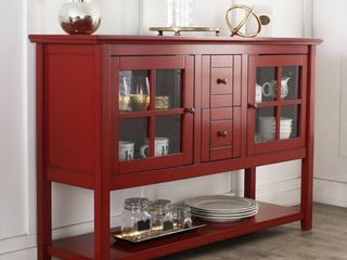 Middlebrook Designs 52 inch Antique Red Buffet Cabinet TV Console  Retail 401 99