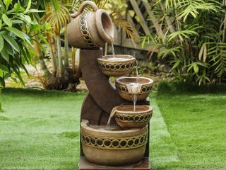 Cement Resin Cascading Pitchers Outdoor Fountain  Retail 156 99