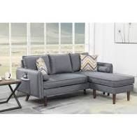 Mia Sectional Sofa Chaise with USB Charger   Pillows  Interchangeable   Retail 568 49