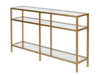 Sivil Brass Console Table