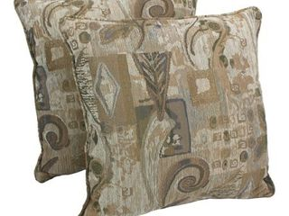 Blazing Needles 25 inch Wind Song Chenille Square Throw Pillows  Set of 2  Retail 162 49