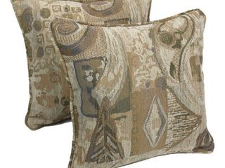Blazing Needles 18 inch Wind Song Throw Pillows  Set of 2