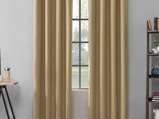 Set of 2 Scott living Mavis Herringbone Total Blackout Grommet Curtain Panel