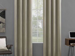 Set of 2 Sun Zero Beck Geometric Ogee Thermal Extreme Total Blackout Grommet Curtain Panel