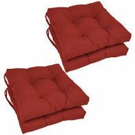 Blazing Needles 16 inch Square Chair Cushions  Set of 4    16  x 16