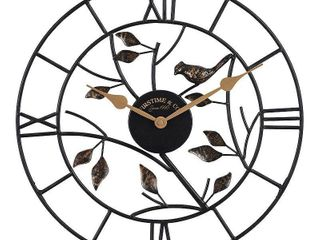 FirsTime   Co  Treetop Bird Outdoor Clock  American Crafted  Oil Rubbed Bronze  Metal  18 x 1 5 x 18 in   18 x 1 5 x 18 in