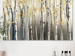 Porch and Den golden Birch Forest Canvas Wall art