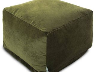 Majestic Home Goods Indoor Villa Velvet Ottoman Pouf 27 in l x 27 in W x 17 in H  Retail 114 49