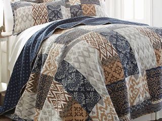 King size laura Printed 3 Piece Quilt Set by Amrapur