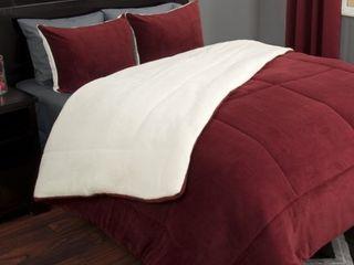Windsor Home 3 piece Sherpa Fleece Comforter Set