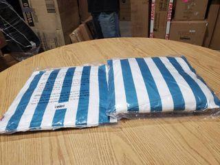 Set of 2 Coronado striped outdoor pillows
