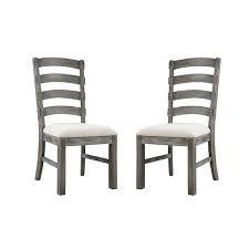 The Gray Barn Snowshill Rustic Charcoal Grey Dining Chair  Set of 2    Retail 295 00