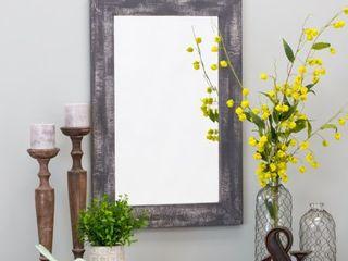 Morris Wall Mirror   Gray 30 x 20   30 h x 20 w x 1 d