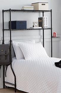 Over the Bed Shelf Supreme   Black