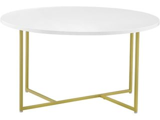 Stevenson Round Coffee Table White   Serta