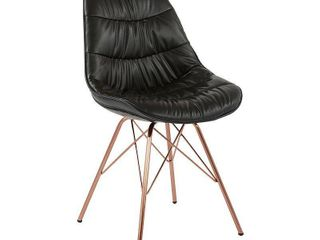 Faux leather langdon Chair Black   OSP Home Furnishings