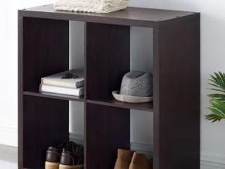 Alaric 4 Cubby Storage Cabinet Espresso