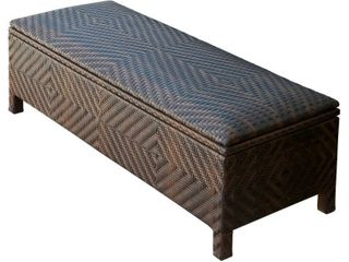 Santiago Brown Wicker Storage Ottoman by Christopher Knight Home   Retail 237 00