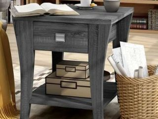 Furniture of America Werc Contemporary End Table Charcoal Grey