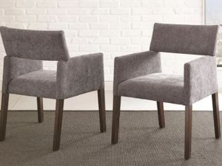 Anson Modern Side Chairs by Greyson living  Set of 2    33 inches high x 24 inches wide x 25 inches deep  Retail 164 99