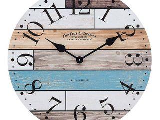 Newton Woodgrain Farmhouse Clock   FirsTime
