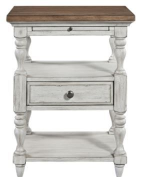 Farmhouse Reimagined Antique White 1 Drawer Night Stand