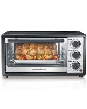 Hamilton Beach Black 6 slice Capacity Toaster Oven w  Broiler