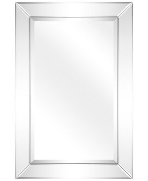 Empire Art Direct Solid Wood Frame Covered with Beveled Clear Mirror Panels   24  x 36