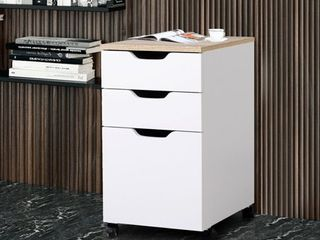 3 Drawer Rolling Storage Cabinet with locking Wheels  Retail 75 98