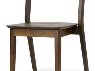 Set Of 2 Astor Dark Brown Solid Wood Chair