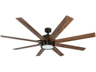 Honeywell Xerxes 62  Oil Rubbed Bronze lED Remote Control Ceiling Fan  8 Blade  Integrated light