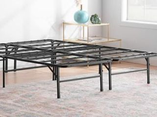 Full Size linenspa 14 Inch Folding metal platform Bed Frame   13 Inches Of Clearance