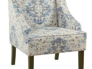 Porch   Den Holman Fabric Upholstered Swoop Armchair  Retail 181 99