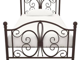 DHP Bombay Metal Bed  Twin Bed Frame  Bronze