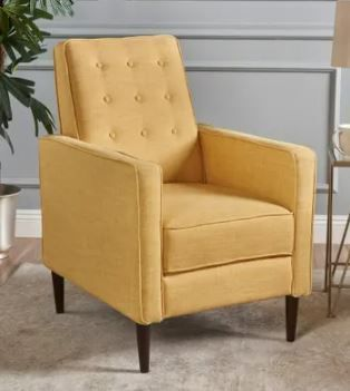 Mervynn Mid century Fabric Recliner Chair by Christopher Knight Home