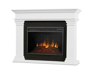 Antero Grand Electric Fireplace in White Fireplace Insert Only