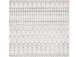 Nuloom Bodrum 100 Polypropylene Grey 8 x10