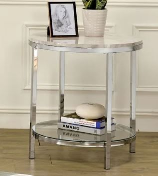 Furniture of America Qule Contemporary End Table