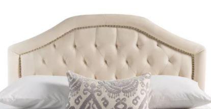 Blanca Adjustable Full Queen Studded Ivory Headboard