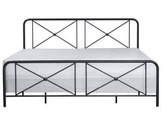 King Williamsburg Metal Bed Black   Hillsdale Furniture